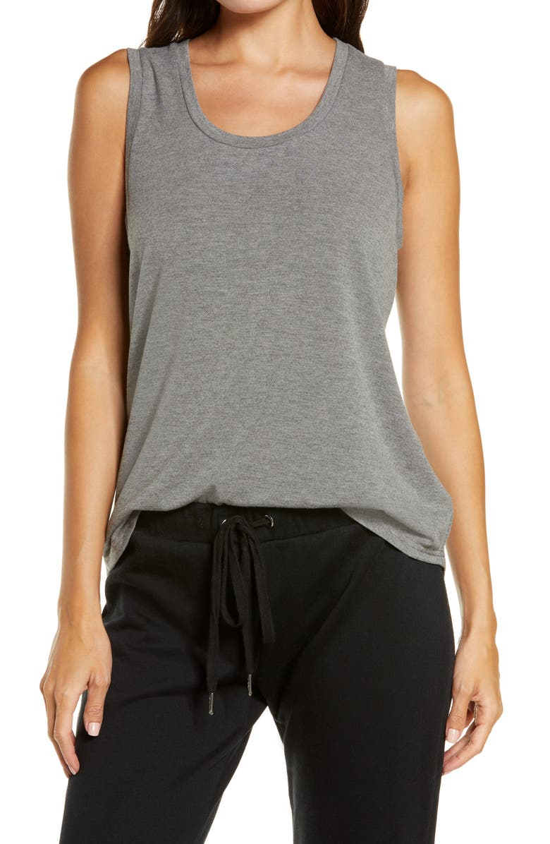 BP. Scoop Neck Tank, Main, color, DARK STEEL HEATHER