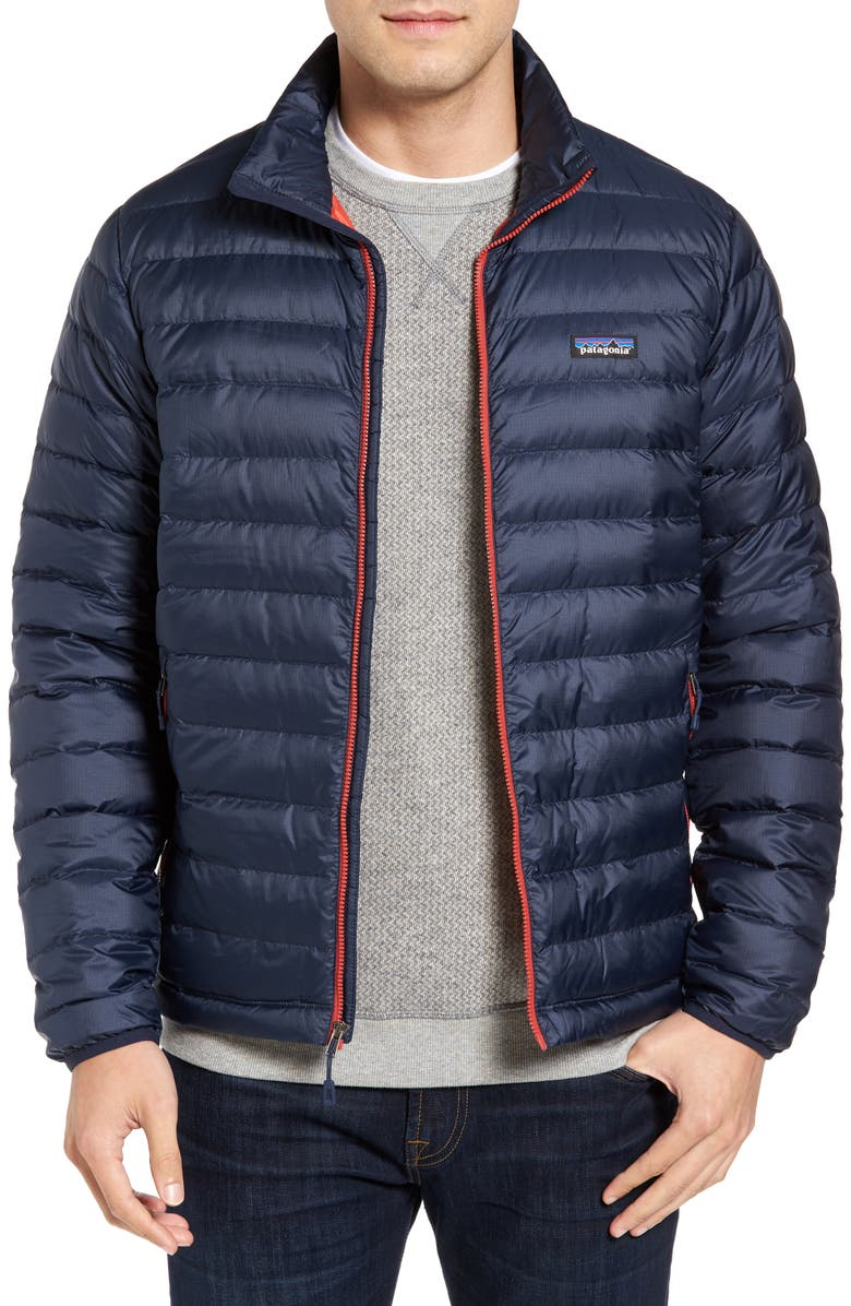 PATAGONIA Water Repellent Down Jacket, Main, color, 409