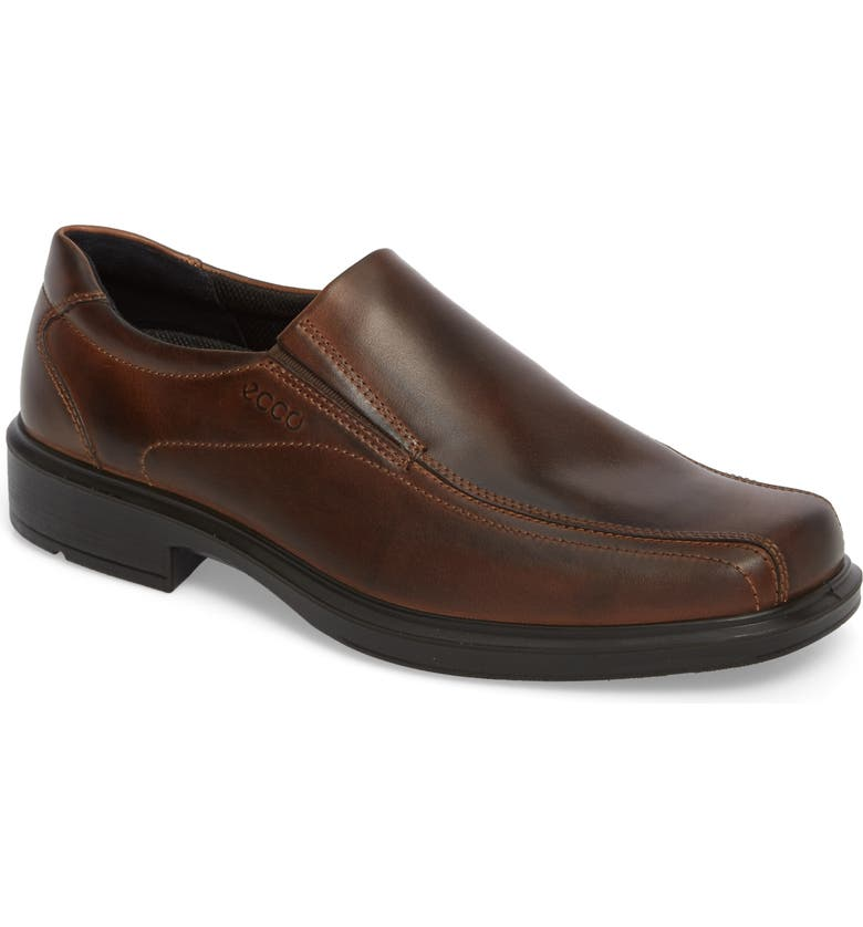 ECCO Helsinki Bike Toe Slip-On, Main, color, COCOA BROWN