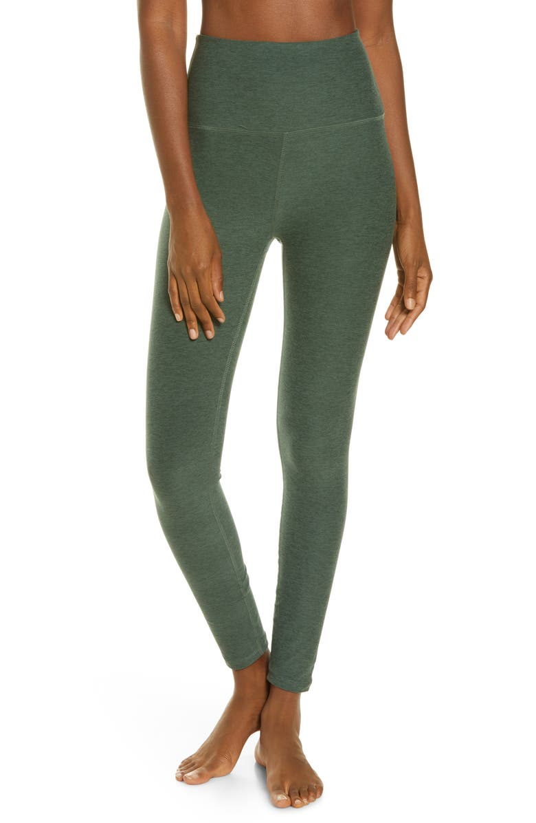 BEYOND YOGA Midi High Waist Leggings, Main, color, GREEN IVY