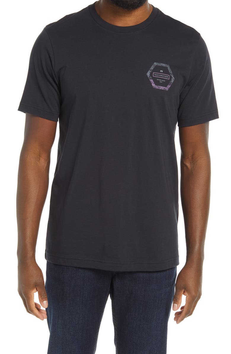 TRAVISMATHEW Men's Limbo Graphic Tee, Main, color, BLACK