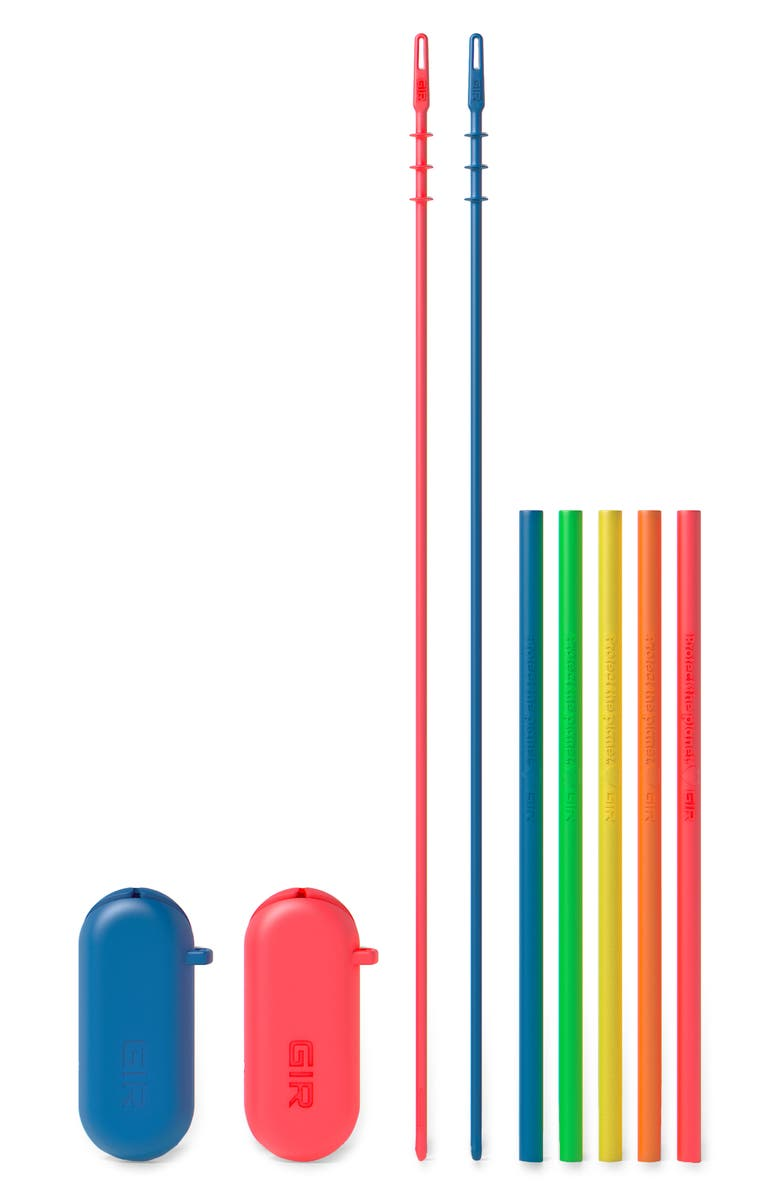 GIR 5-Pack Standard Silicone Straws, Main, color, ELECTRIC