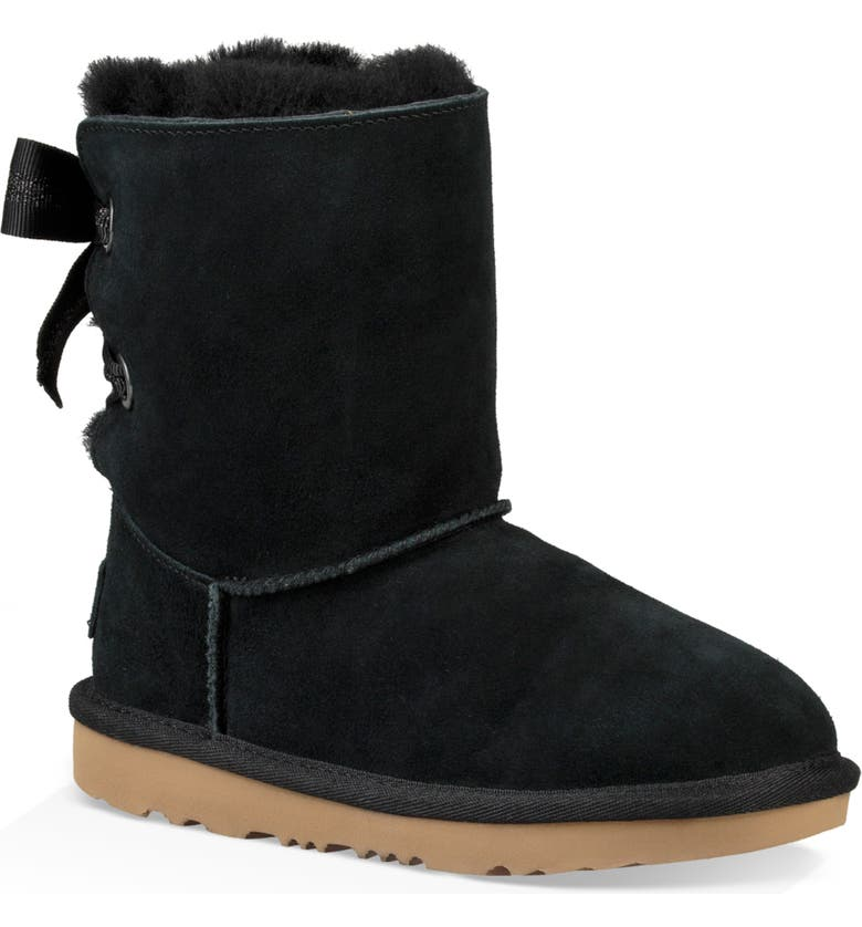UGG<SUP>®</SUP> Customizable Bailey Bow II Genuine Shearling Boot, Main, color, 001