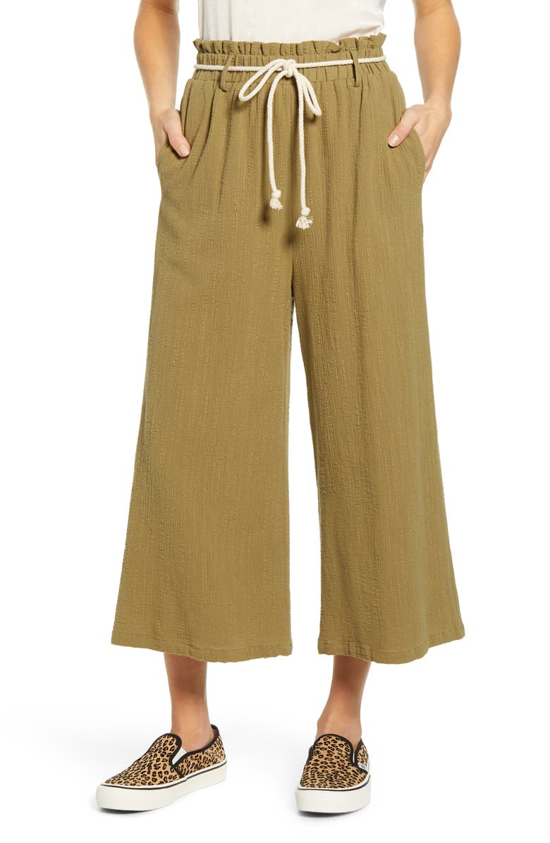 ALL IN FAVOR Textured Pull On Crop Pants, Main, color, 302