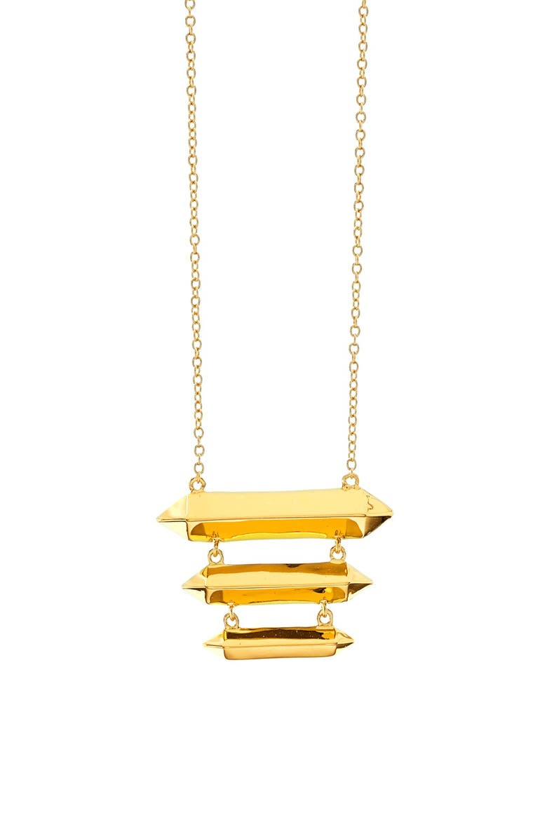GORJANA 'Layla' Tiered Necklace, Main, color, Gold