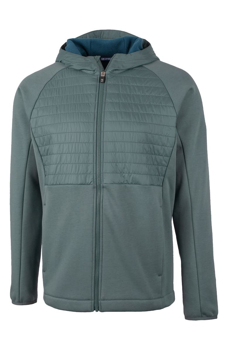 CUTTER & BUCK Discovery Hybrid Hooded Jacket, Main, color, SOAPSTONE