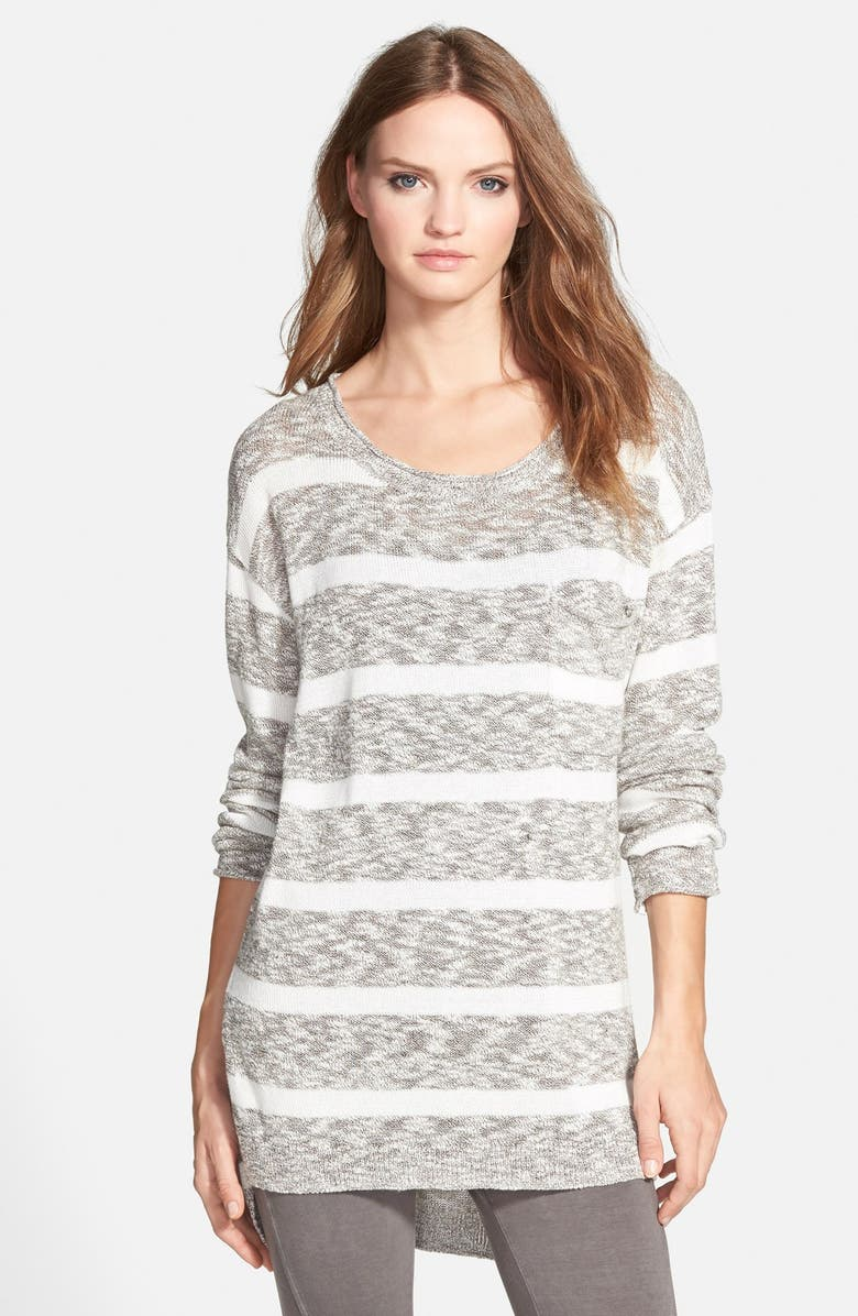 BP. Stripe Slub Knit Pullover, Main, color, 001