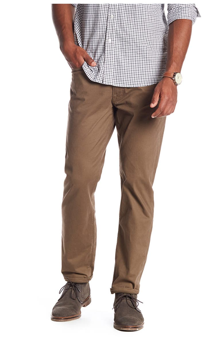 """LUCKY BRAND 121 Heritage Slim Fit Pants - 30-34"""" Inseam, Main, color, BARK"""