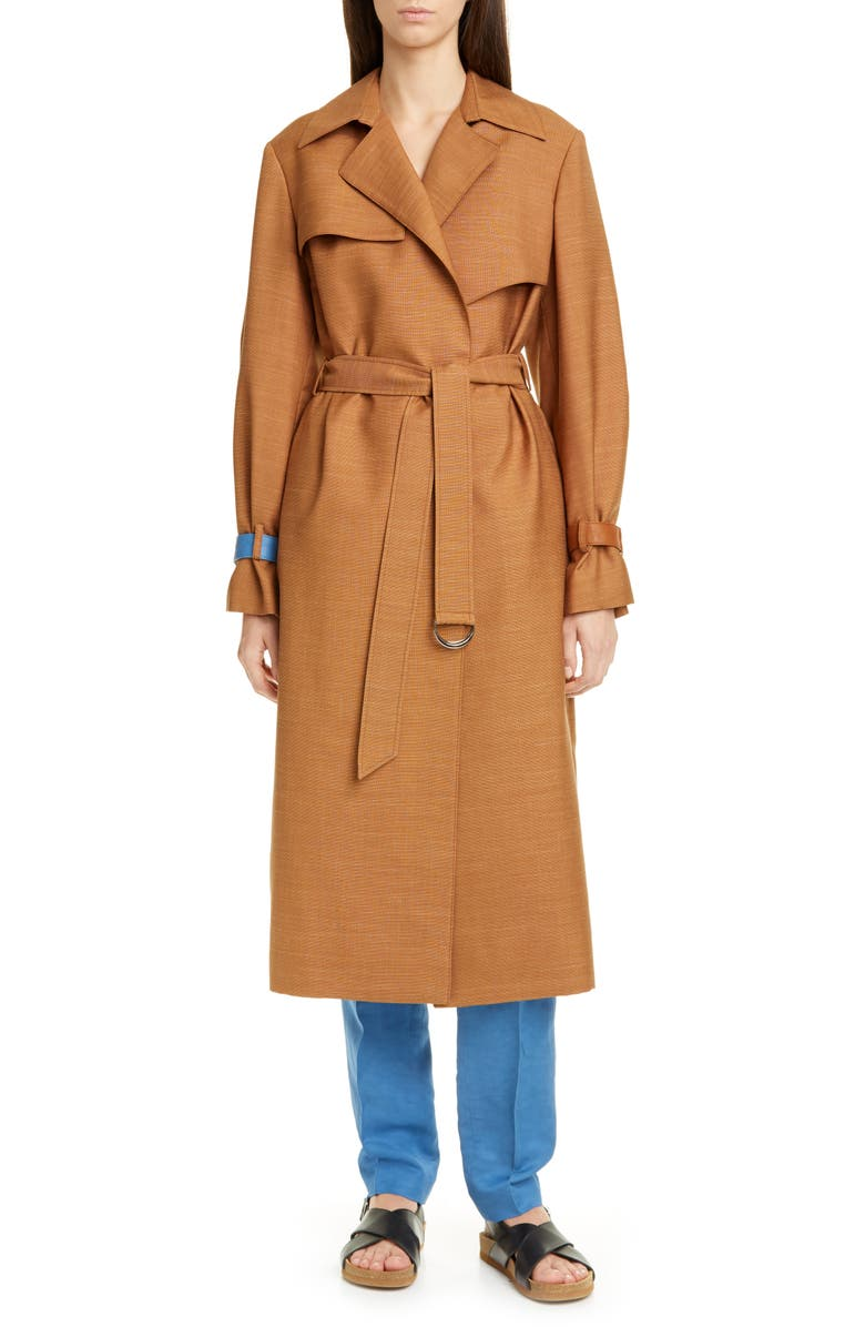 PARTOW Meadow Wool Blend Trench Coat, Main, color, 200