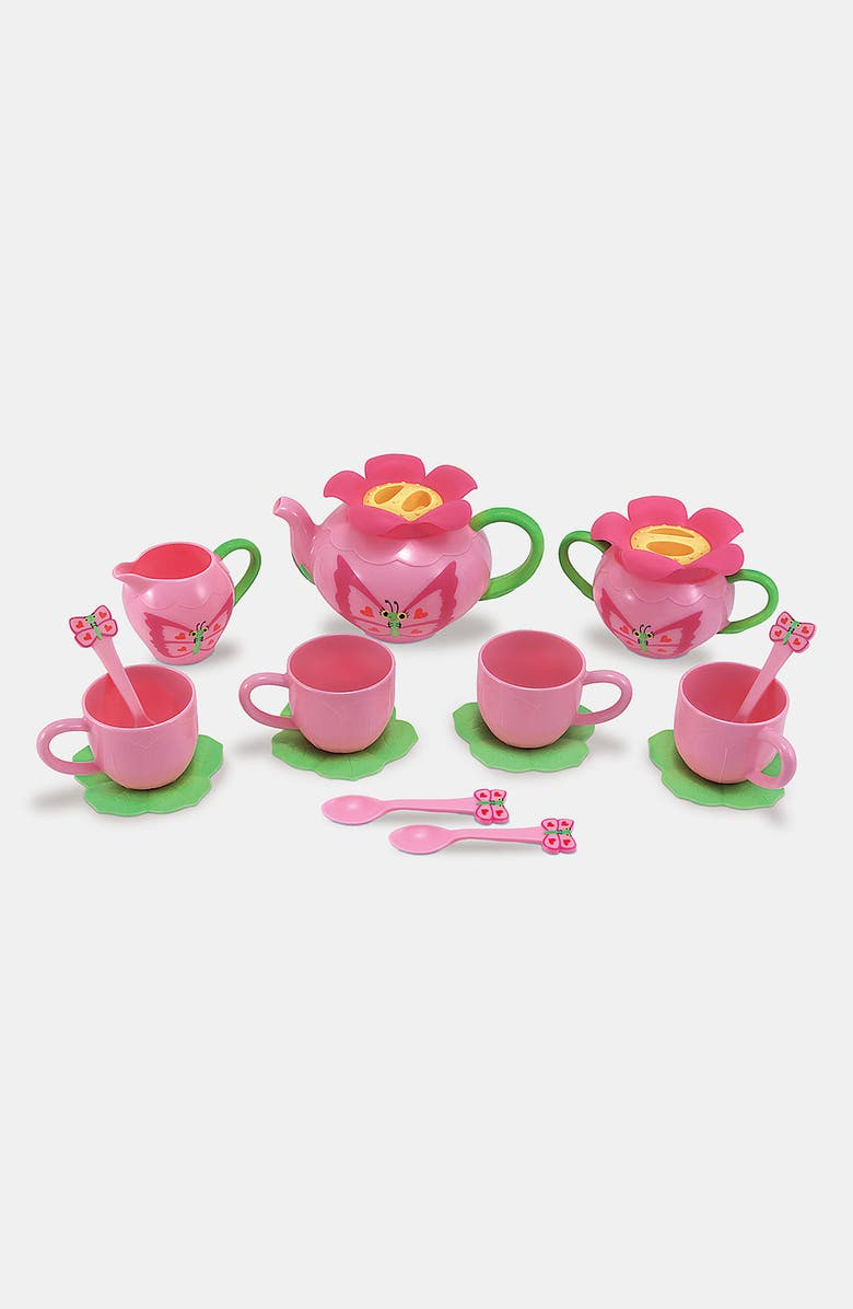 MELISSA AND DOUG Bella Butterfly Tea Set, Main, color, NONE