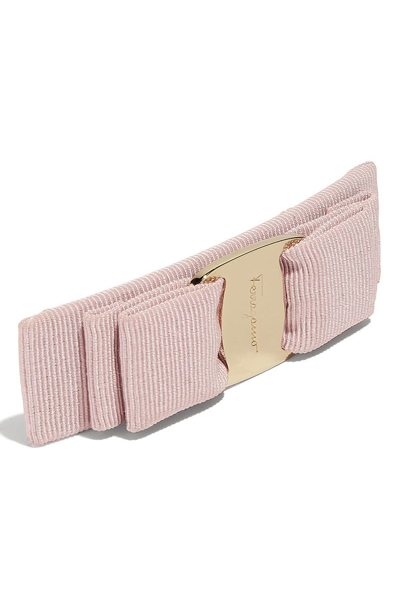 SALVATORE FERRAGAMO Vara Bow Barrette, Main, color, MACARON/ GOLD