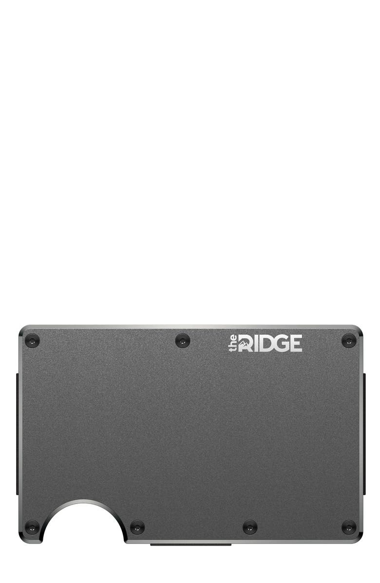 THE RIDGE Wallet - Aluminum Cash Clip, Main, color, GUNMETAL