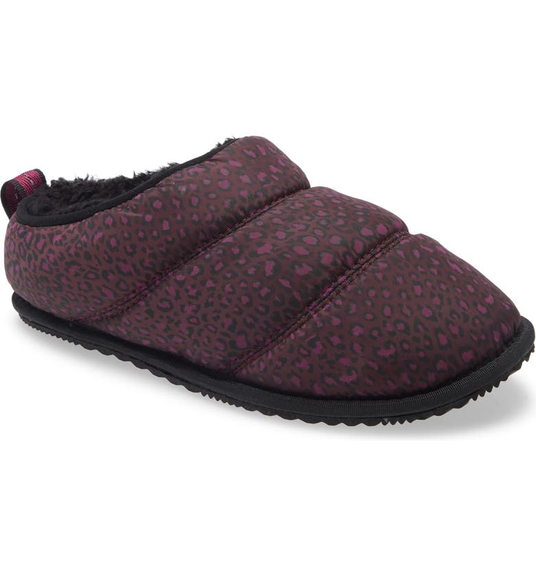 SOREL Go Bodega Faux Fur Slipper, Main, color, EPIC PLUM