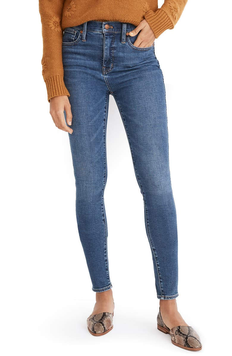 MADEWELL 10-Inch High Waist Skinny Jeans, Main, color, WENDOVER