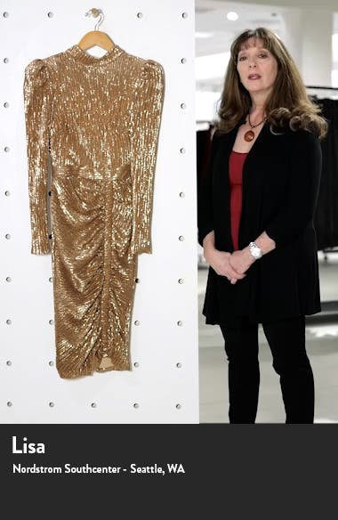 Open Back Long Sleeve Sequin Cocktail Dress, sales video thumbnail