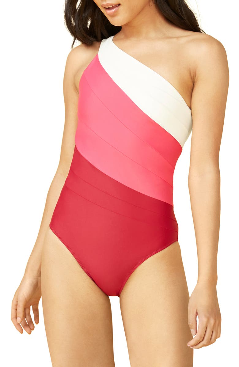 SUMMERSALT The Sidestroke One-Piece Swimsuit, Main, color, Pink