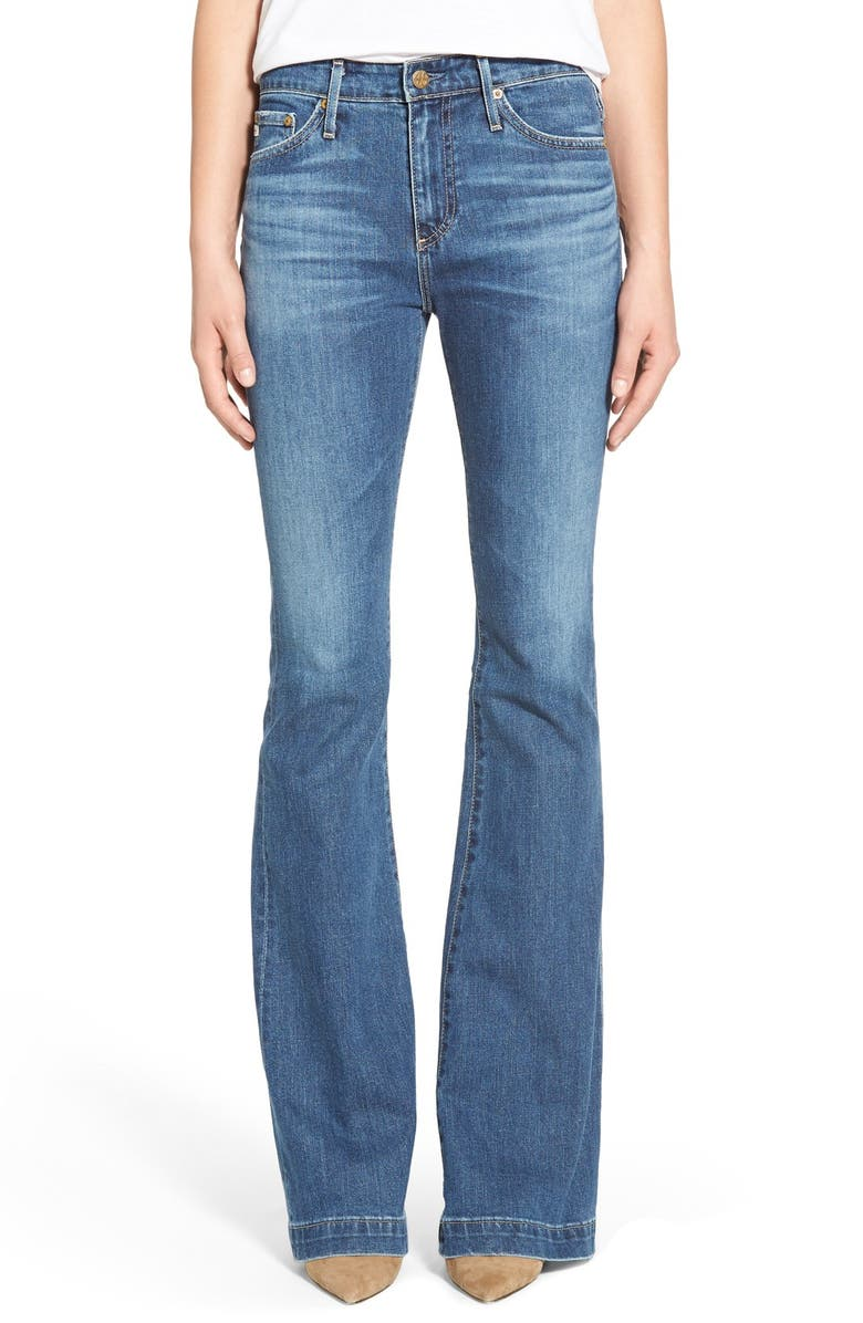 AG 'The Janis' High Rise Flare Jeans, Main, color, 14 YEARS MUIR