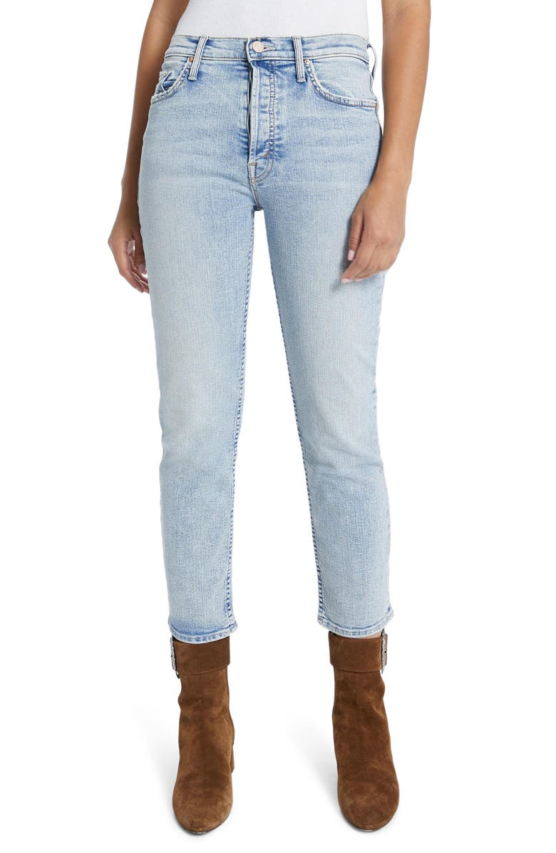 MOTHER The Tomcat High Waist Button Fly Ankle Jeans, Main, color, MARRAKESH DAYS
