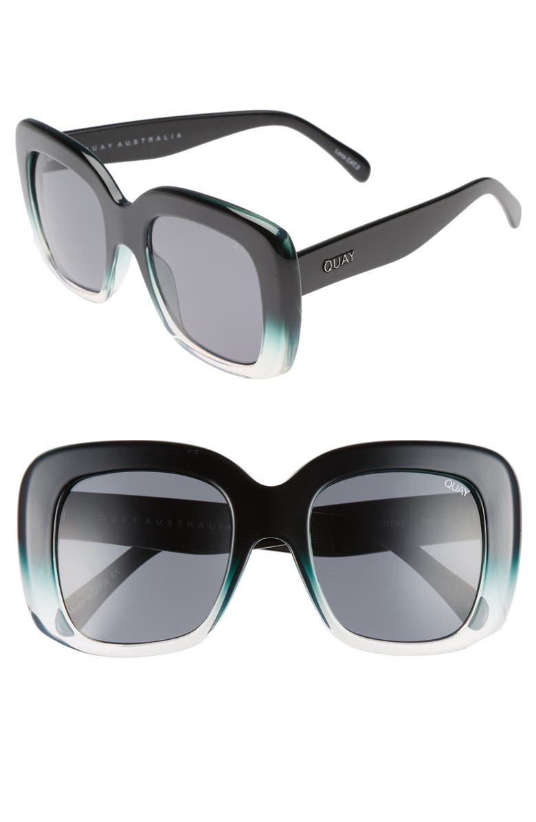 QUAY AUSTRALIA Day After Day 53mm Square Sunglasses, Main, color, 014