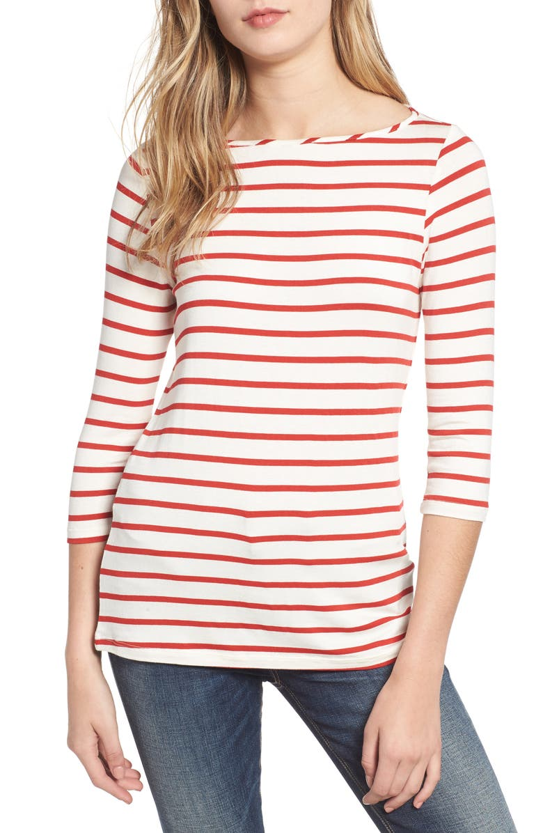 AMOUR VERT Francoise Stretch Jersey Top, Main, color, 600