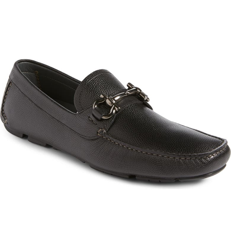 SALVATORE FERRAGAMO Parigi Bit Driving Moccasin, Main, color, NERO LEATHER