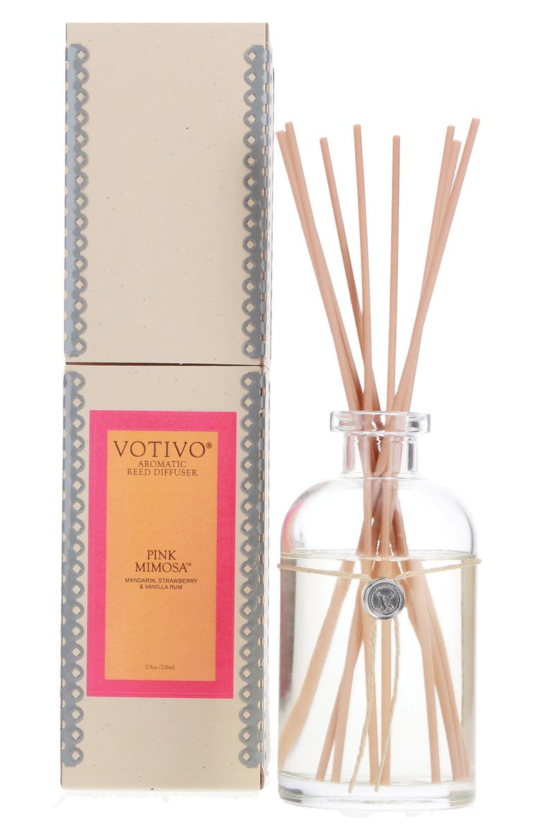 VOTIVO Aromatic Reed Diffuser, Main, color, PINK MIMOSA
