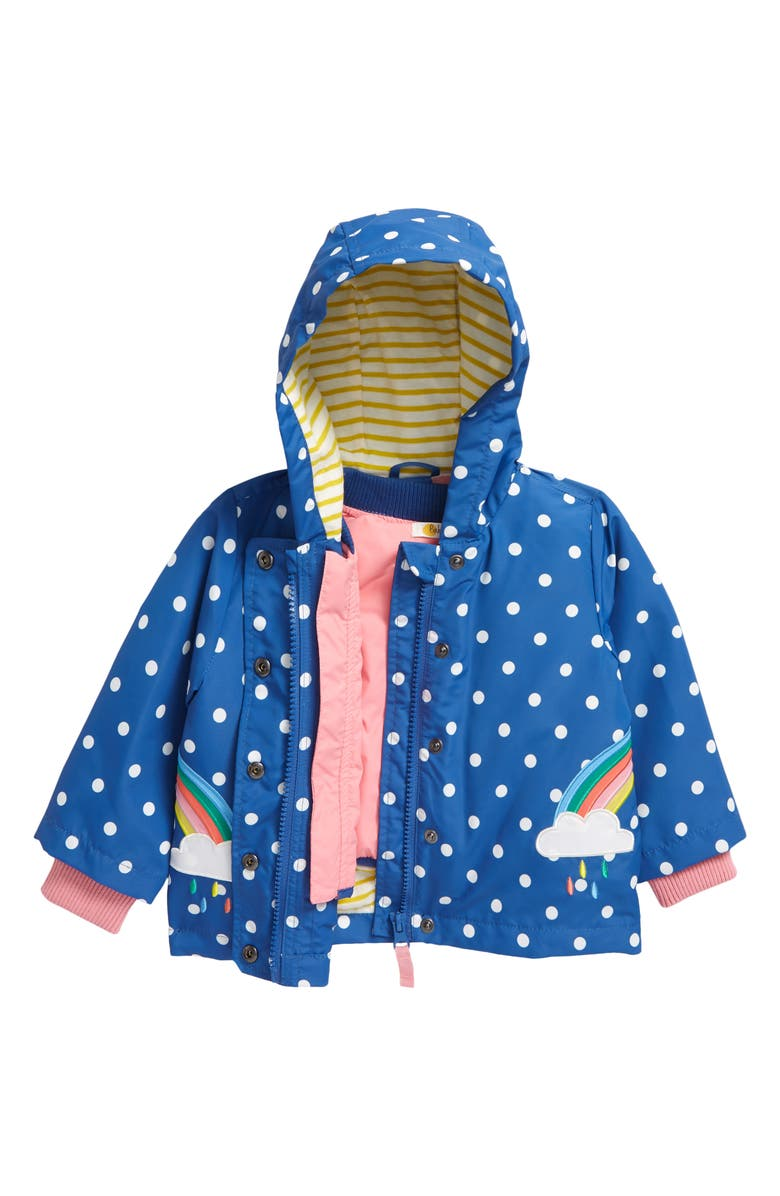 MINI BODEN Blue Skies 3-in-1 Water Resistant Hooded Jacket, Main, color, 400
