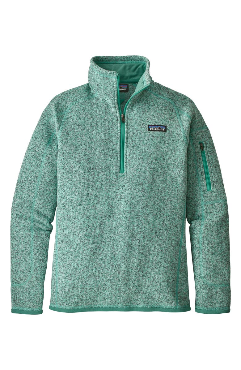 PATAGONIA Better Sweater Quarter-Zip Fleece Pullover, Main, color, 308