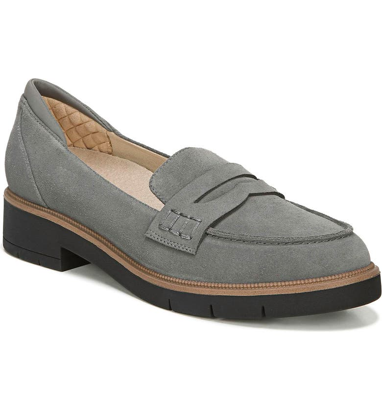 DR. SCHOLL'S Generation Loafer, Main, color, DARK SHADOW GREY LEATHER
