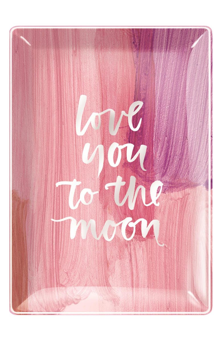 FRINGE STUDIO 'Love You To The Moon' Glass Trinket Tray, Main, color, 650