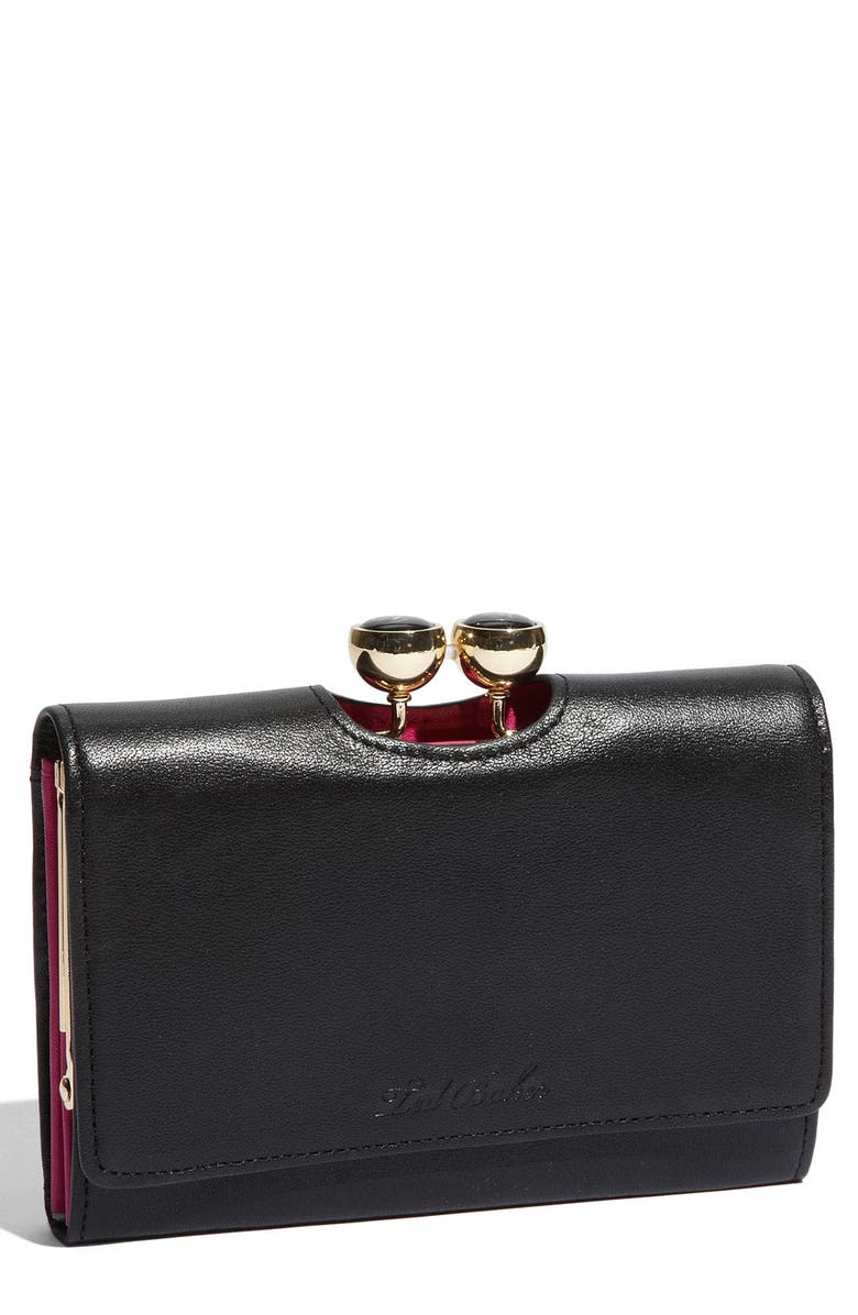 TED BAKER LONDON 'Rena Bobble' French Wallet, Main, color, 001