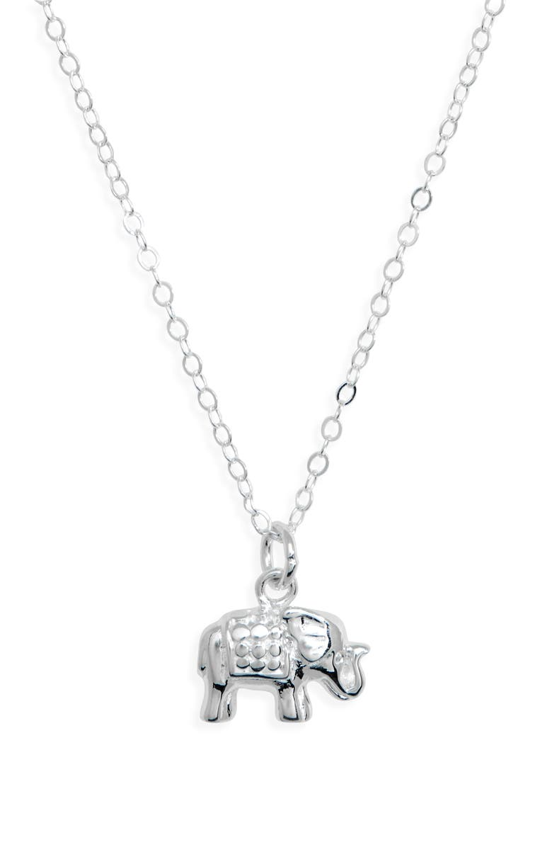 ANNA BECK Elephant Charity Pendant Necklace, Main, color, 040