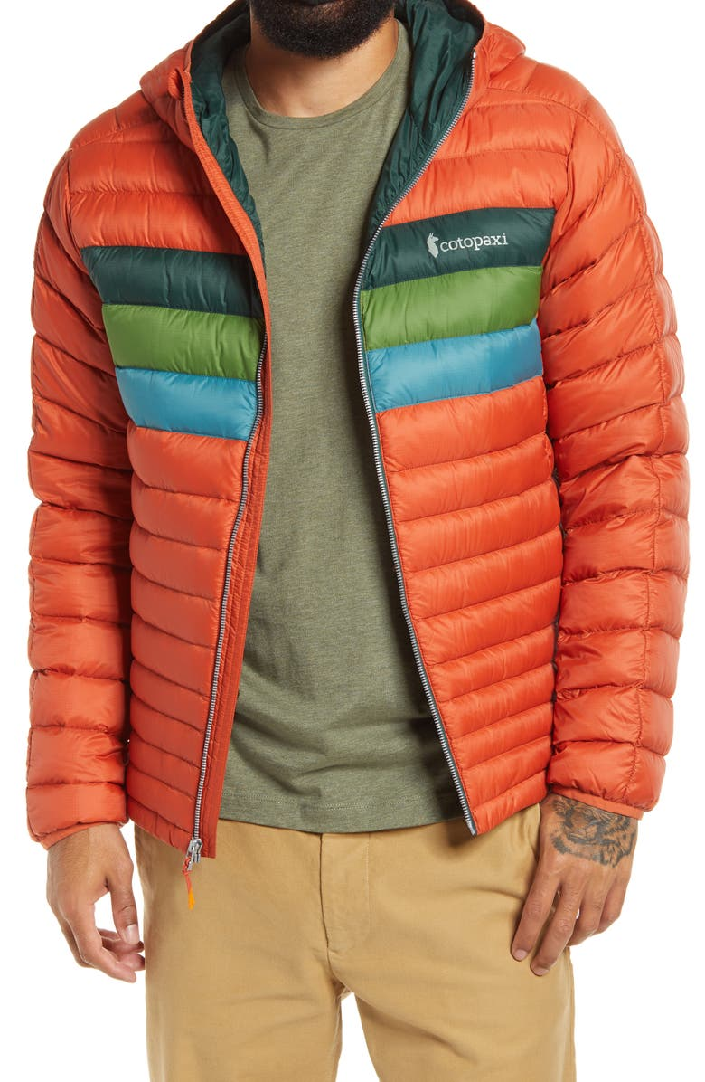 COTOPAXI Fuego Hooded Water Resistant Down Jacket, Main, color, 800