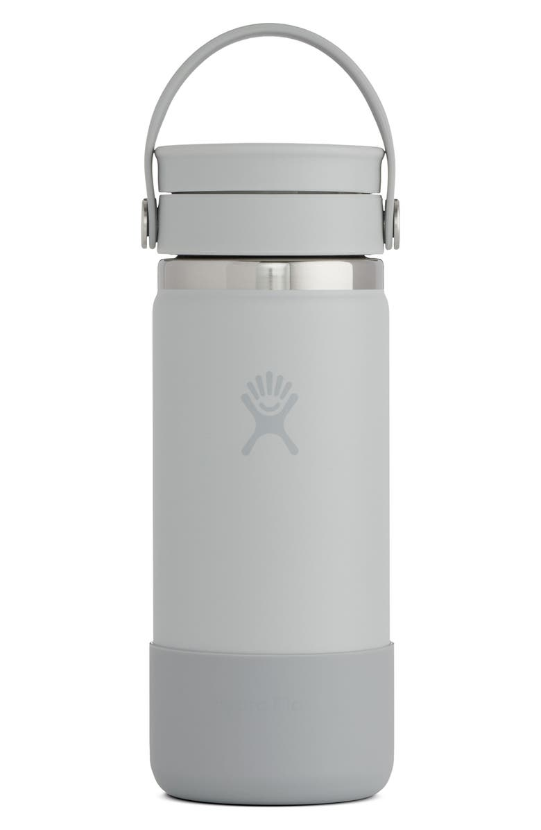 HYDRO FLASK 16-Ounce Wide Mouth Cap Bottle, Main, color, COOL GREY