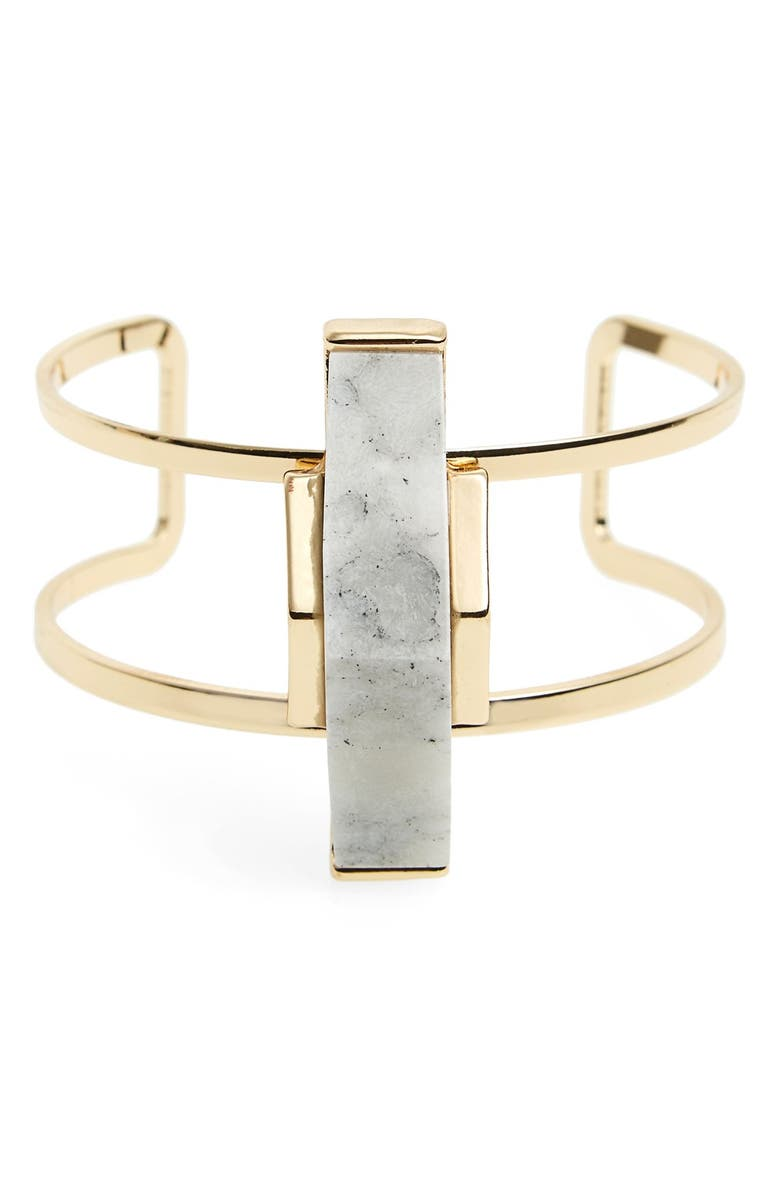 SOLE SOCIETY 'Abstract Stone' Open Cuff, Main, color, Gold