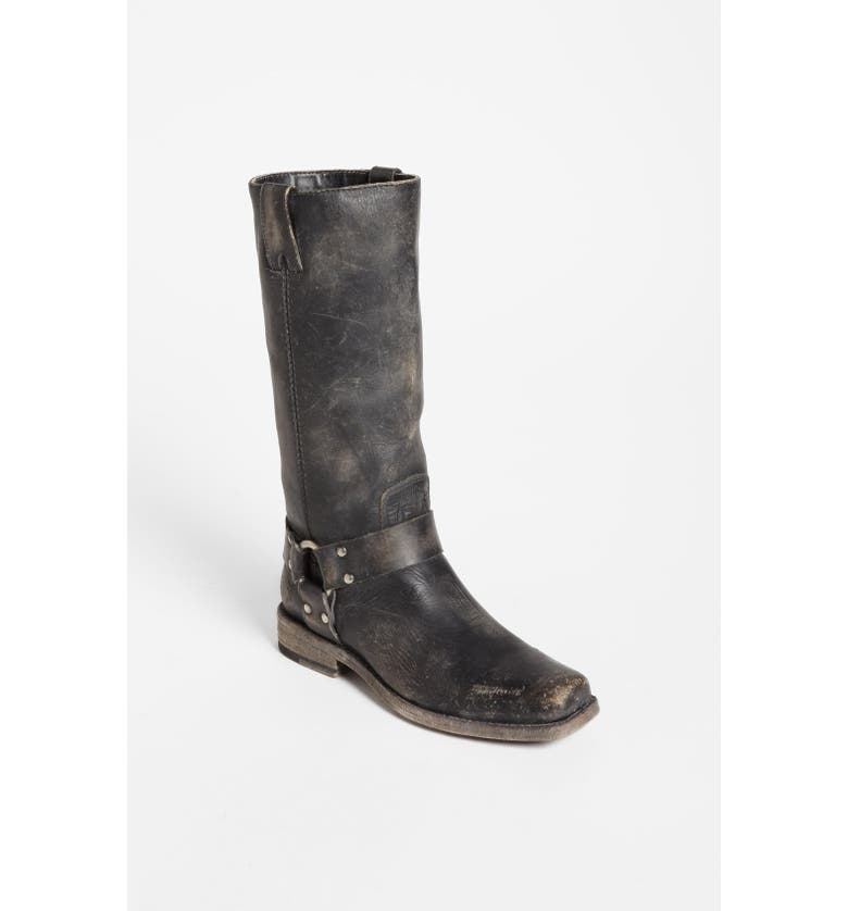 FRYE 'Smith' Harness Tall Boot, Main, color, Black