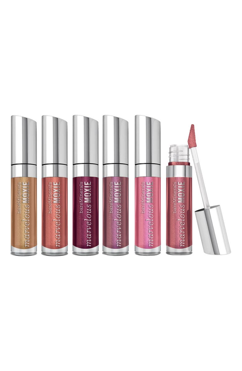 BAREMINERALS<SUP>®</SUP> 'Marvelous Moxie<sup>™</sup> - Show Me the Shimmer' Lipgloss Set, Main, color, No Color
