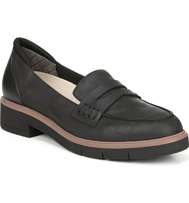DR. SCHOLL'S Generation Loafer, Main, color, BLACK LEATHER