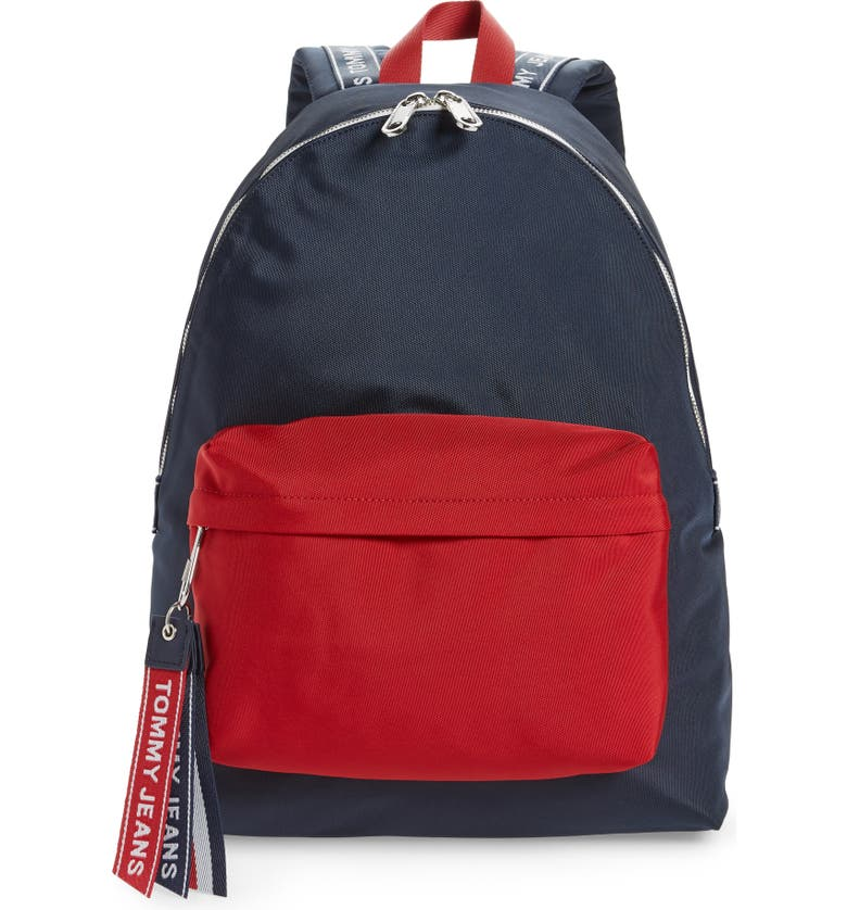 TOMMY JEANS Water Resistant Logo Backpack, Main, color, 400