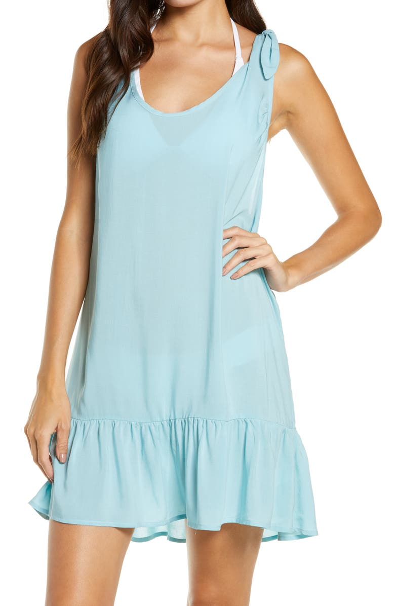 CHELSEA28 Lizzie Cover-Up Dress, Main, color, BLUE MERCHANT