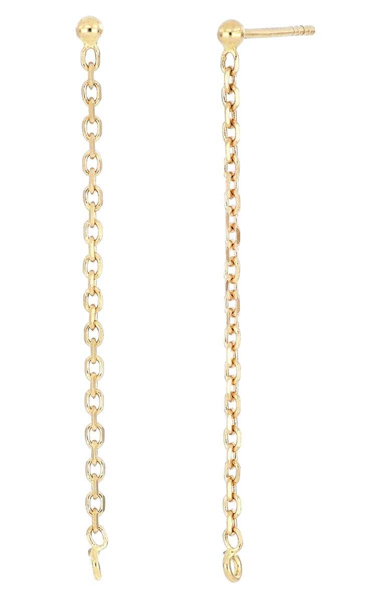 BONY LEVY Essential Linear Chain Drop Earrings, Main, color, YELLOW GOLD
