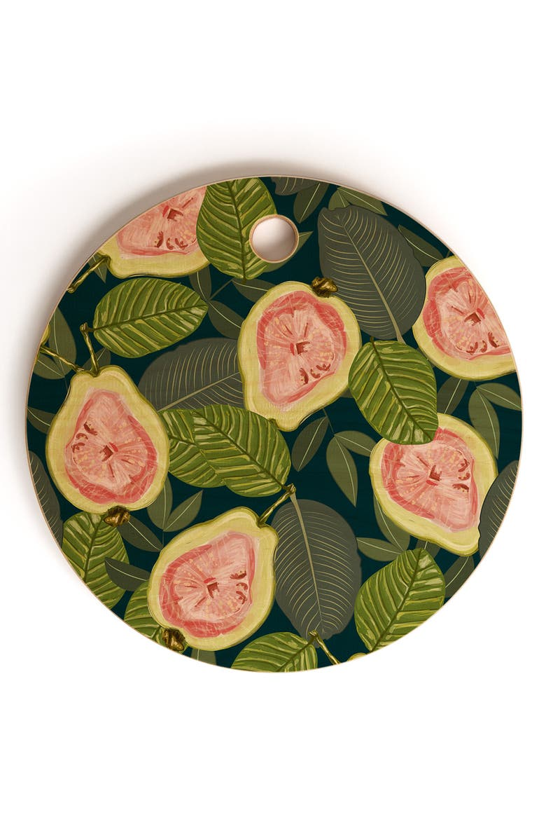 DENY DESIGNS 83 Oranges Guava Cutting Board, Main, color, PINK
