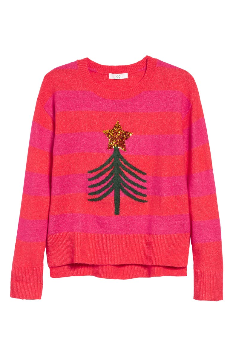 NORDSTROM 1901 Kids' Merry Sparkle Sweater, Main, color, RED BITTERSWEET TREE