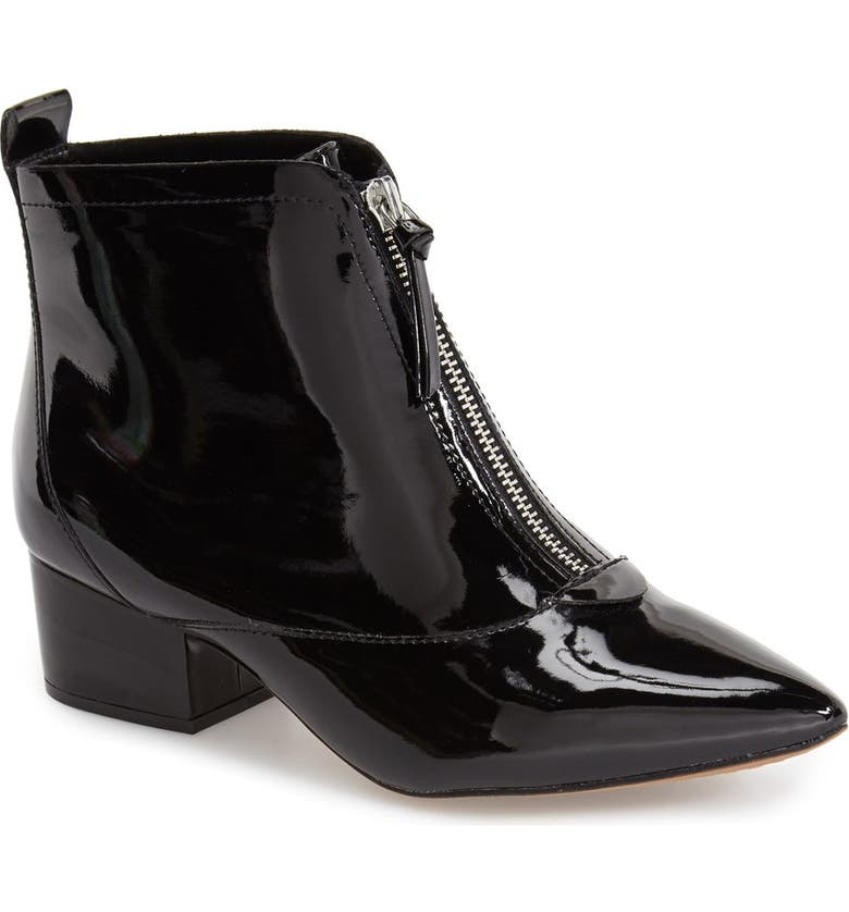 FRENCH CONNECTION 'Robrey' Pointy Toe Bootie, Main, color, BLACK PATENT