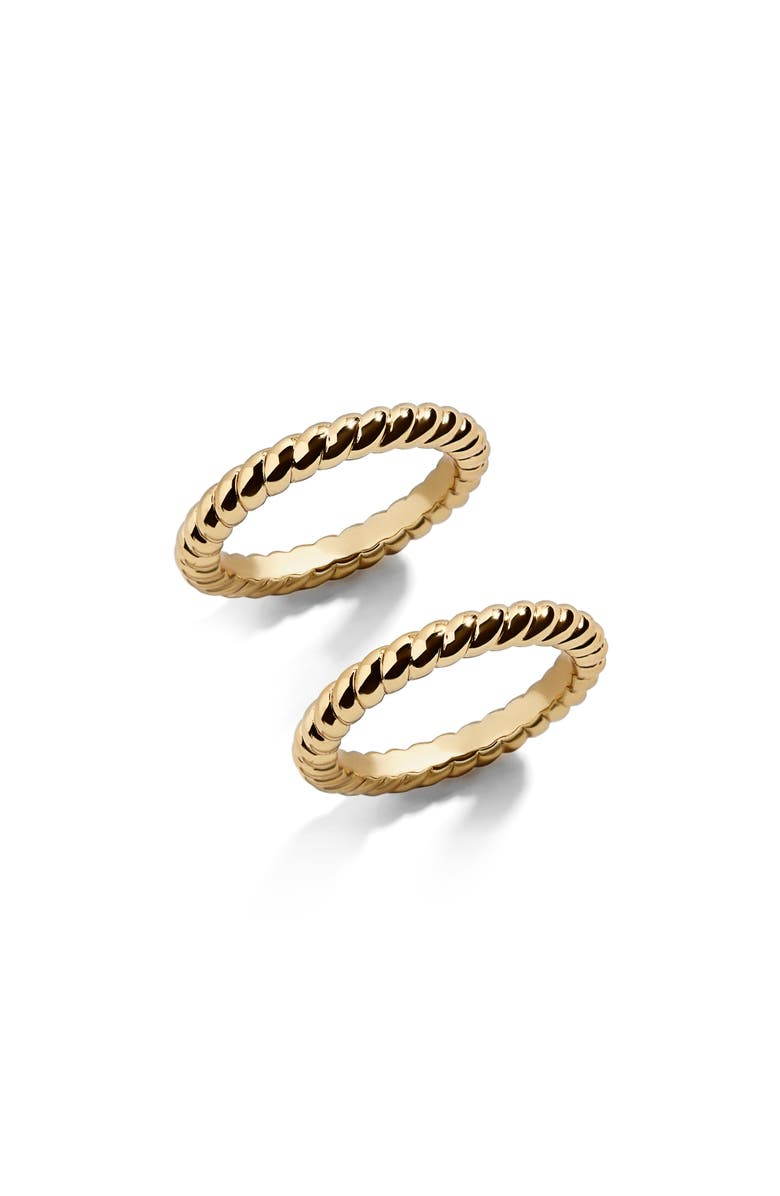 BAUBLEBAR Twist Stacking Ring, Main, color, GOLD