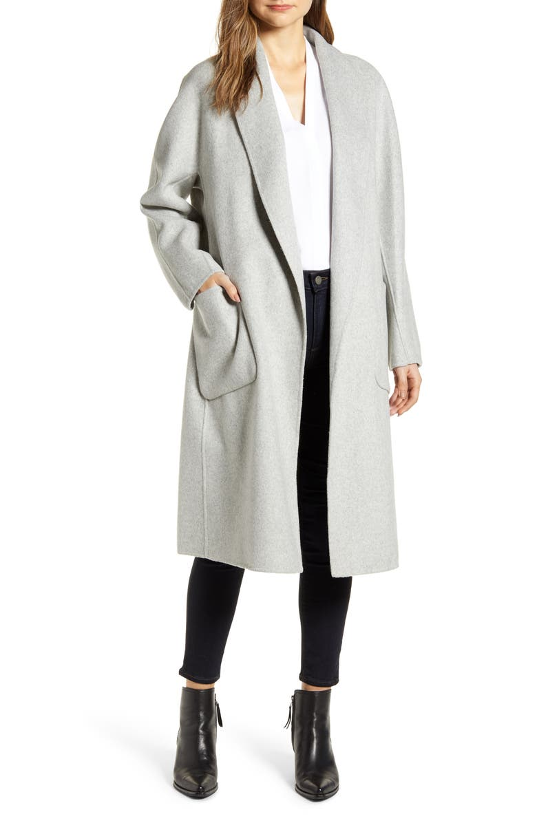 LAMARQUE Shawl Collar Wool Blend Coat, Main, color, 050
