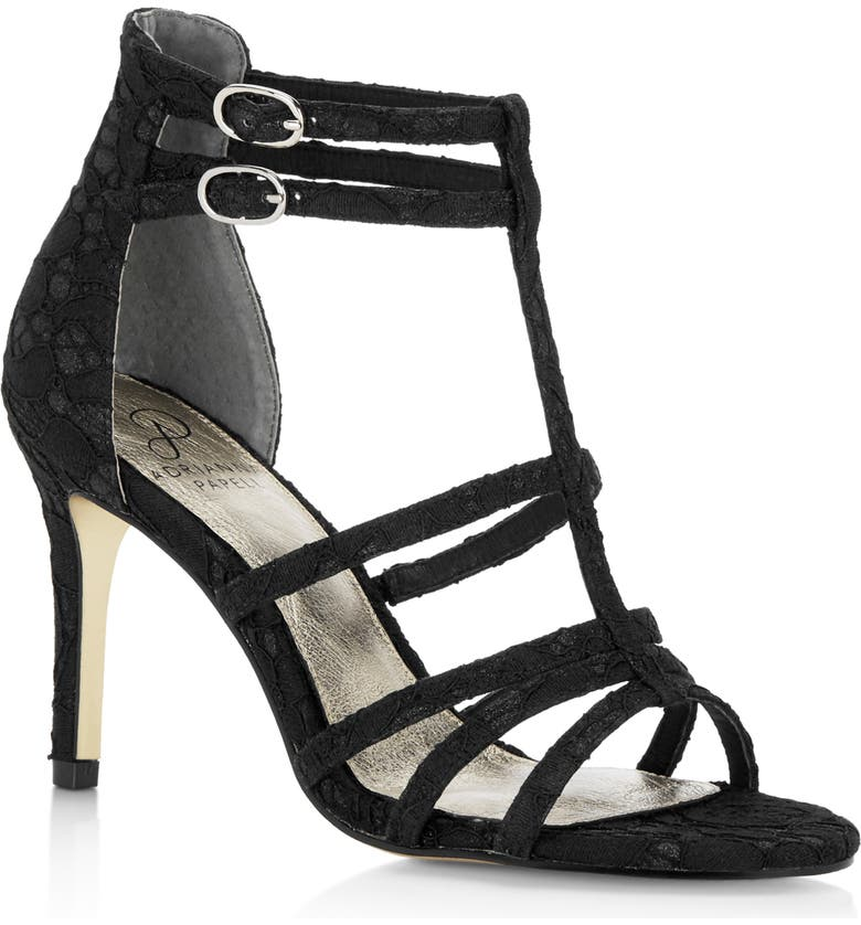 ADRIANNA PAPELL Adara Ankle Strap Sandal, Main, color, 001