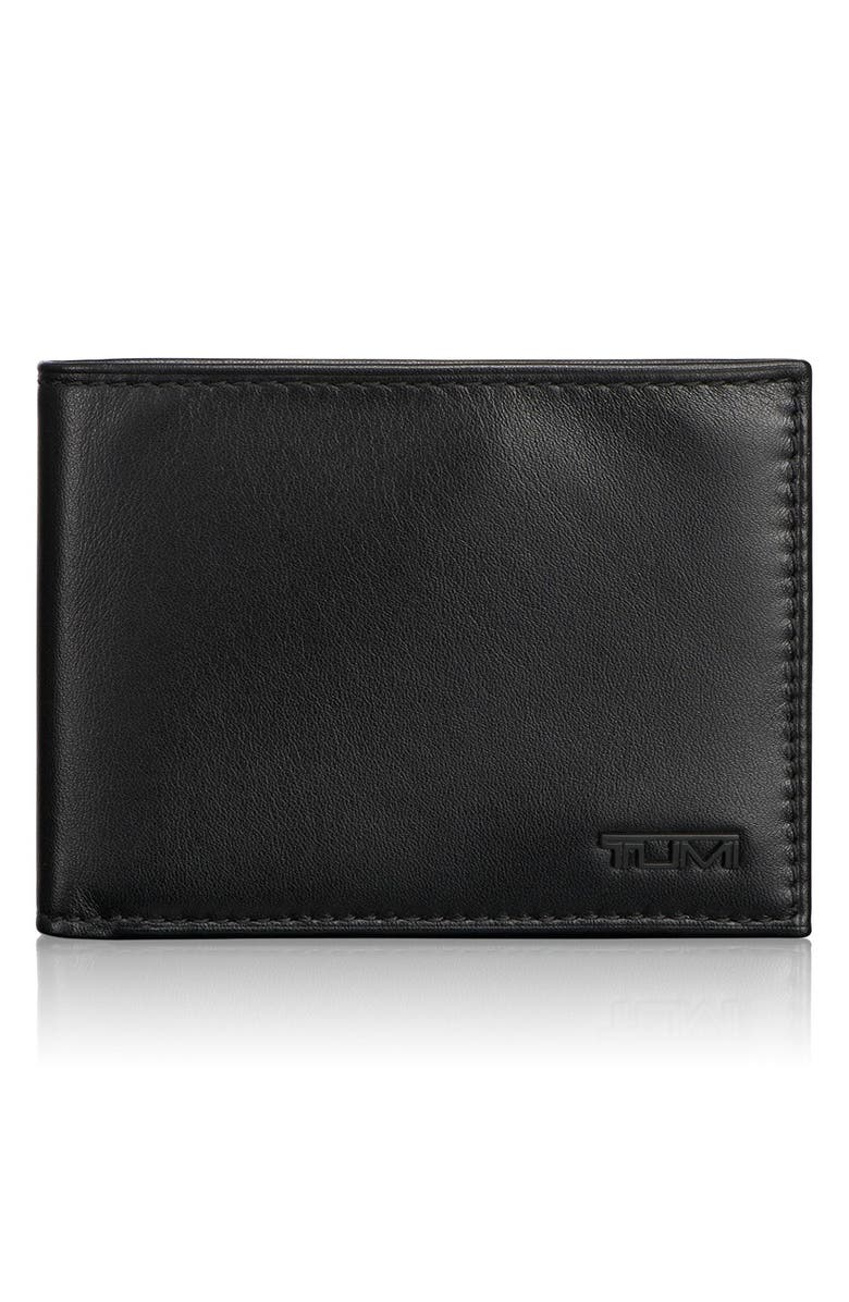 TUMI Delta Global - ID Lock<sup>™</sup> Shielded Double Billfold Wallet, Main, color, BLACK