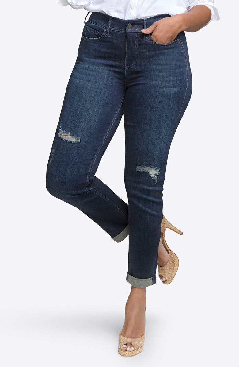 CURVES 360 BY NYDJ Rolled Slim Straight Leg Jeans, Main, color, 403