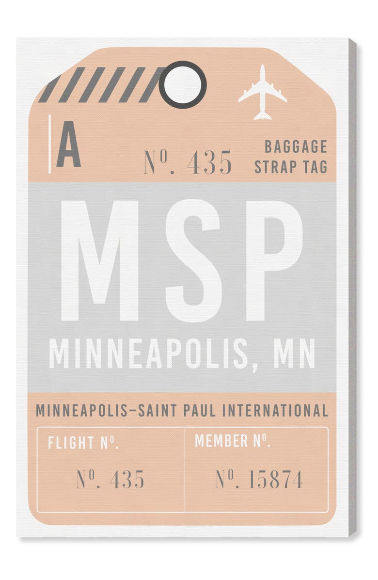 OLIVER GAL Minneapolis Luggage Tag Wall Art, Main, color, 800